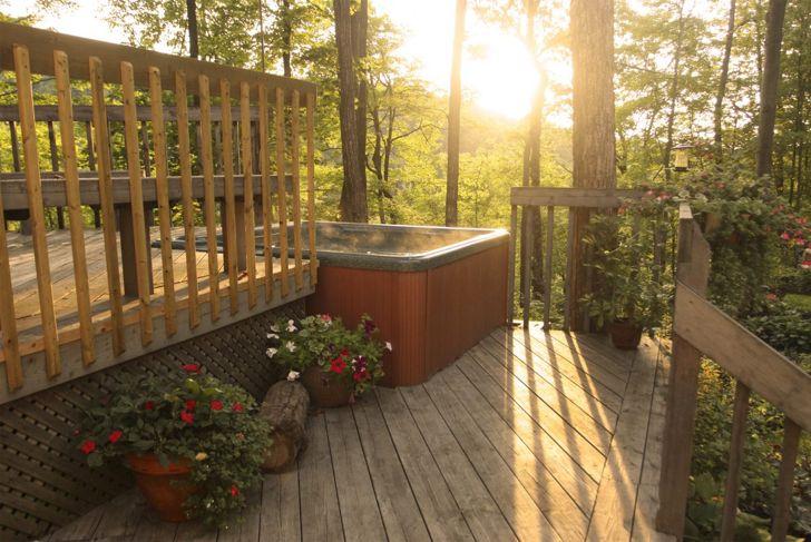 Multi-level decking creates intimate spaces