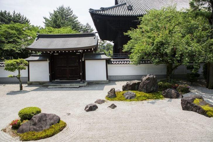 peaceful serene zen garden