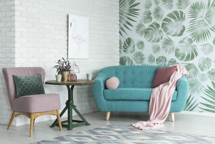 leaf floral wallpaper