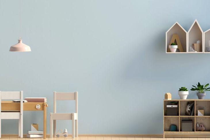 A modern Scandinavian-style playroom