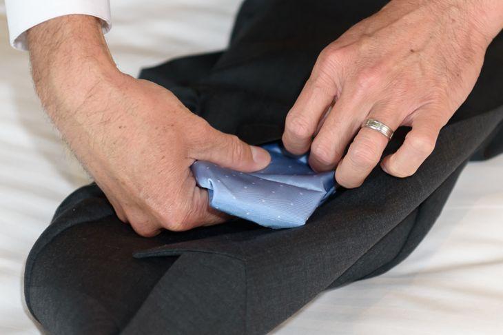 folding croissant pocket square