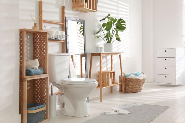 shelf above toilet