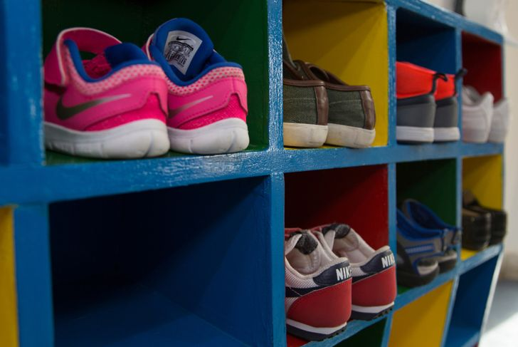 cubby storage for shoes