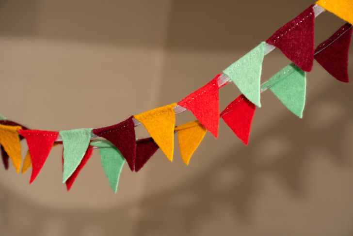 autumn bunting banner for thanksgiving