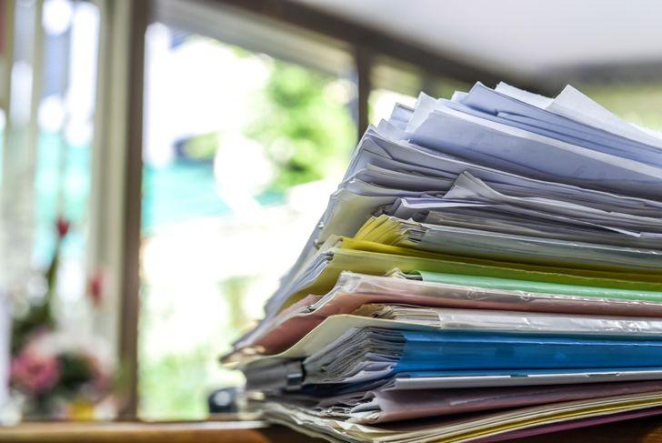 get rid of paper piles