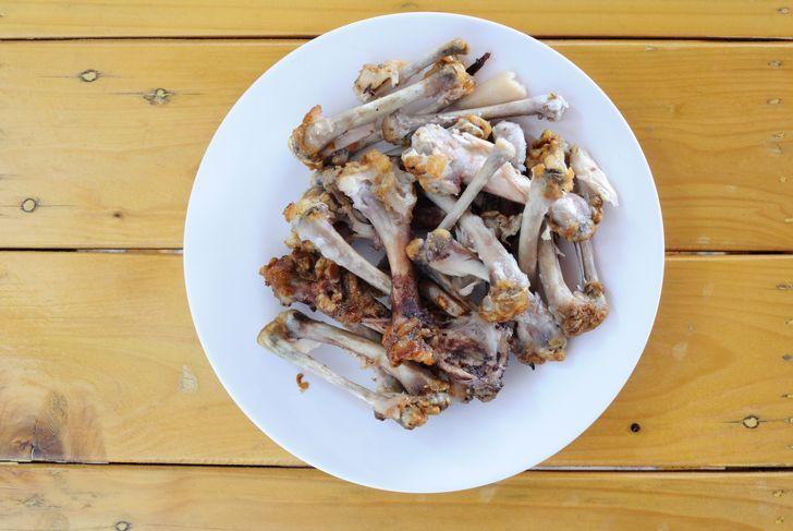 animal bones dried for bone meal