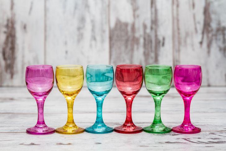 glassware in bold colors
