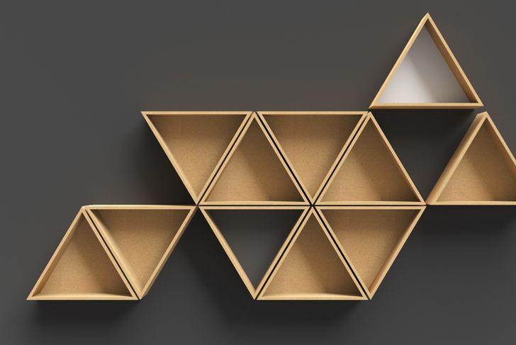 stacking triangle shoe shelf