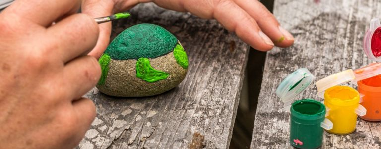 Take Your Creativity Outdoors with Painted Rocks