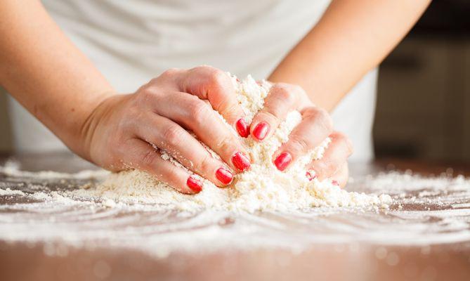 4. Split the dough