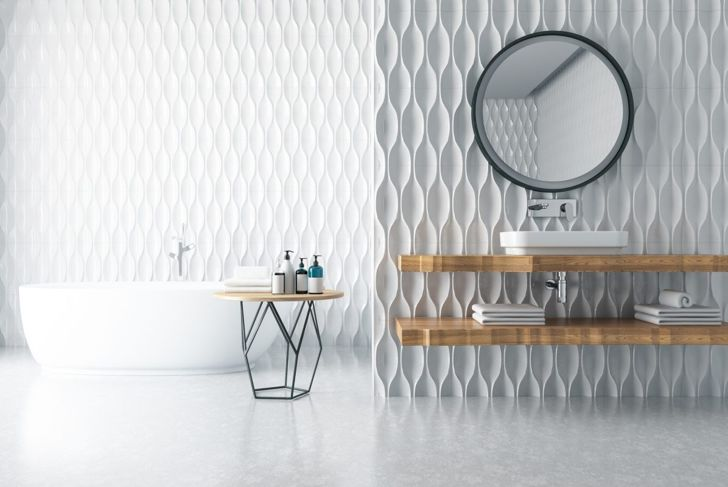 textured bathroom tiles