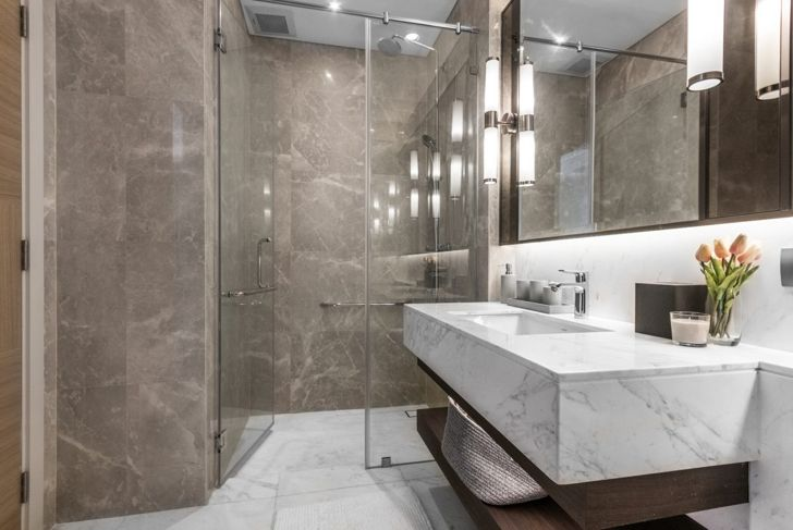 clean bathroom, streamlined, bathroom tiles