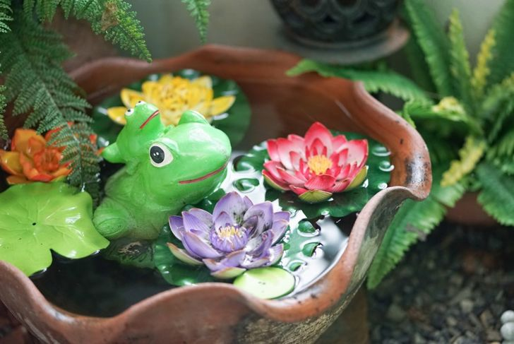 fairies ceramic saucer water
