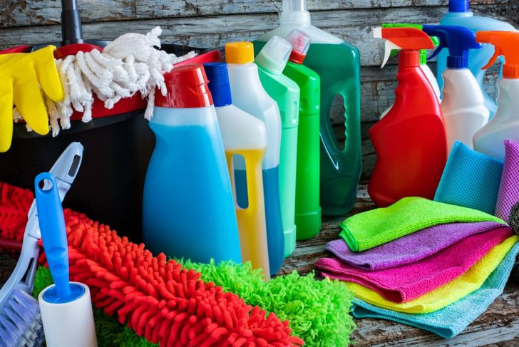 Collection of cleaning supplies
