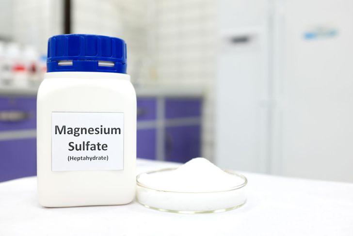 Bottle of magnesium-sulfate