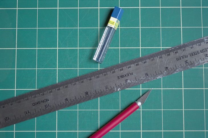A steel ruler