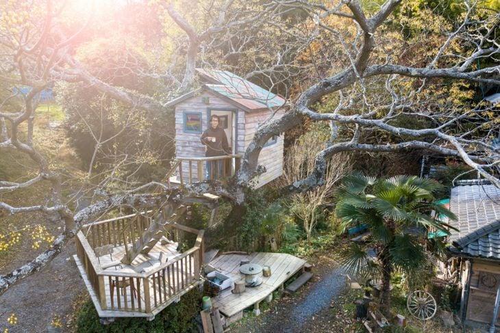 Multi-storey tree house