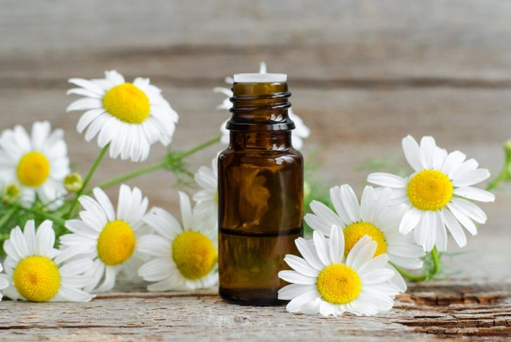 Chamomile essential oil is as effective as the popular tea version.