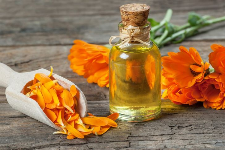 Calendula flowers and calendula oil