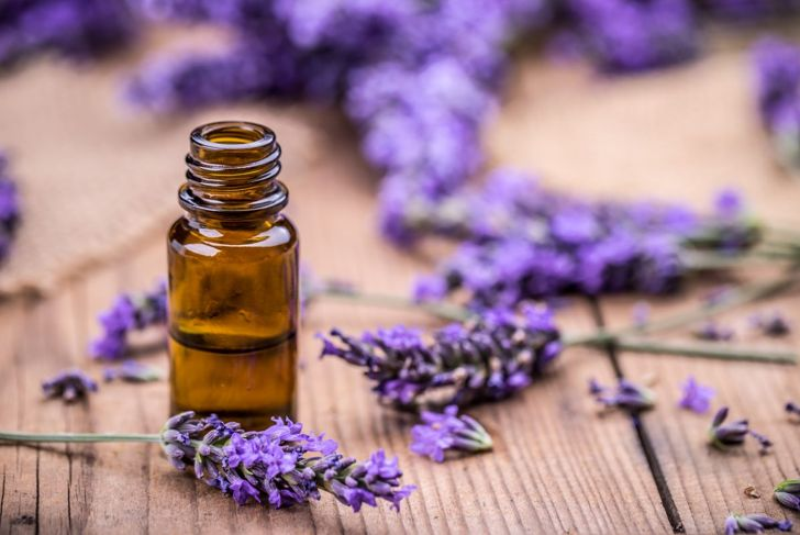 Lavender essential oil helps with sleep and promotes relaxation.