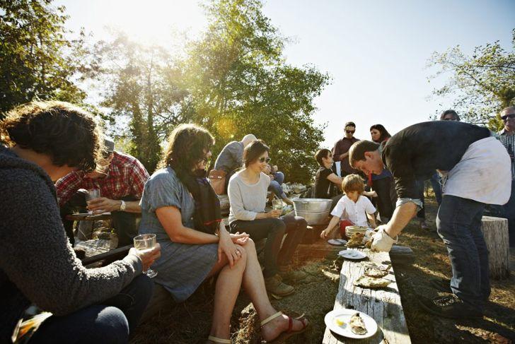 Eating local promotes sustainability.