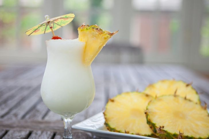A virgin pina colada brings a festive vibe without the alcohol.