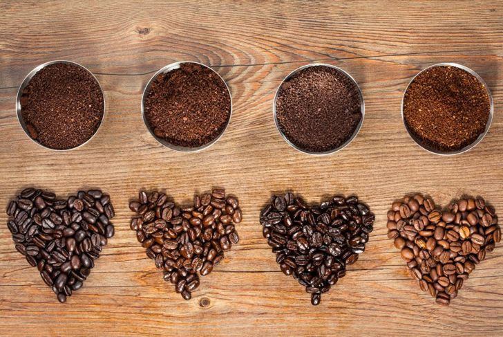 Selection of coffee roasts