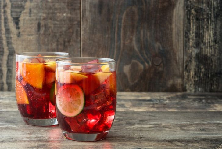 The fruit is the fancy star of this drink recipe.