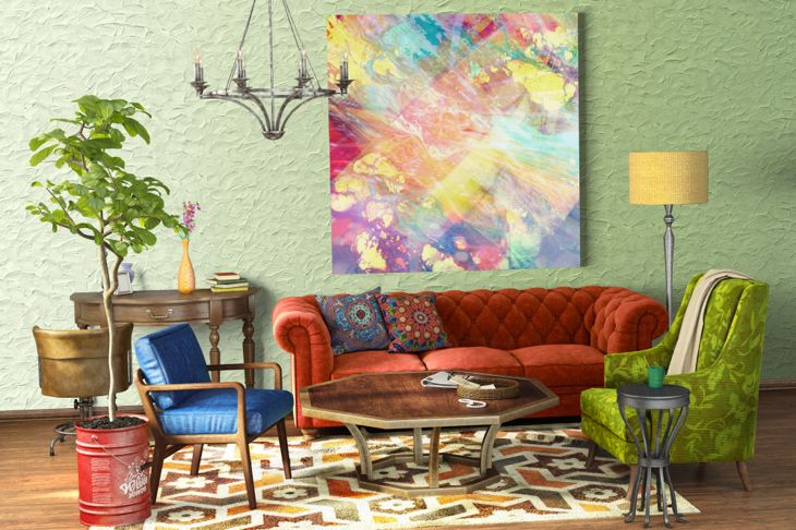eclectic living room style
