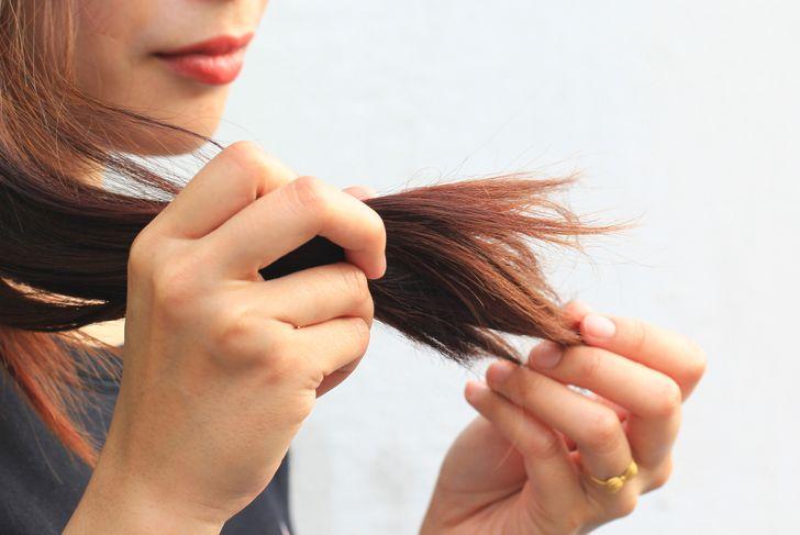 dry hair ends