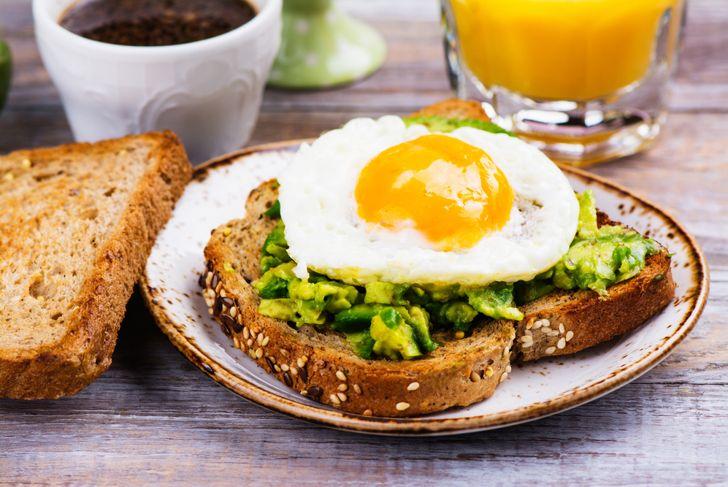 avocado toast breakfast