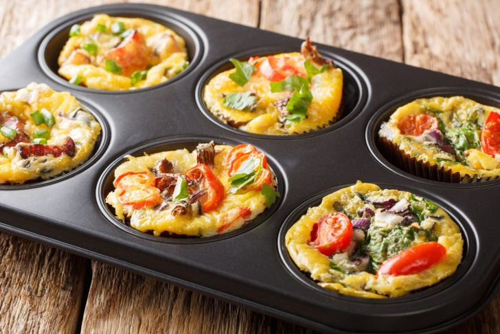 Healthy eggs for quick breakfast frittatas