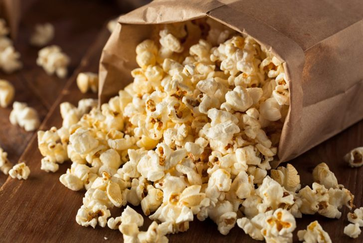 Popcorn is a surprisingly healthy processed food, especially without the addition of butter and other toppings.