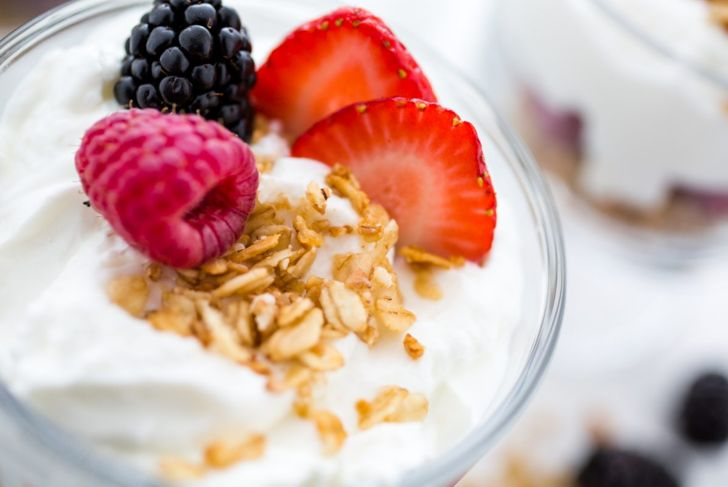 Greek yogurt is a healthy processed food, especially with the addition of fresh fruit.