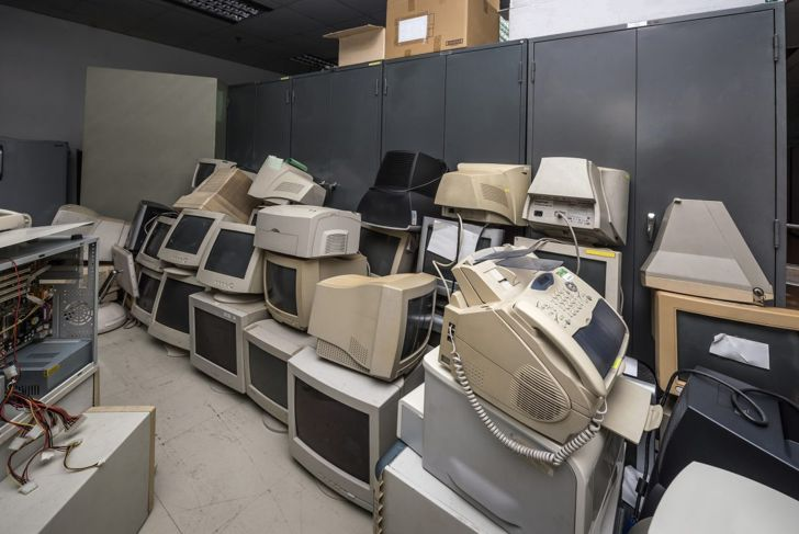 Throw out old electronics like computers, radios, alarmclocks and CD players.