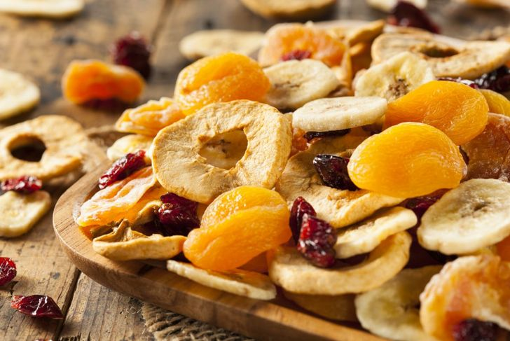 A variety of dried fruit, which makes an excellent healthy processed food if there are no added sugars.