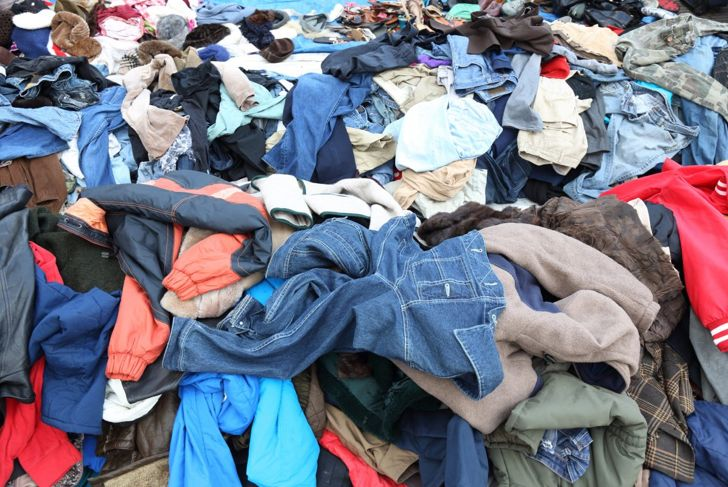 Donate or sell old, worn out clothing.