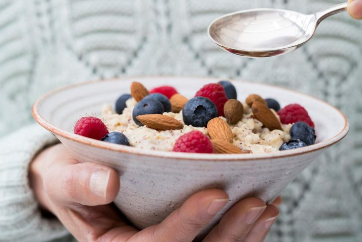 Healthy porridge breakfast