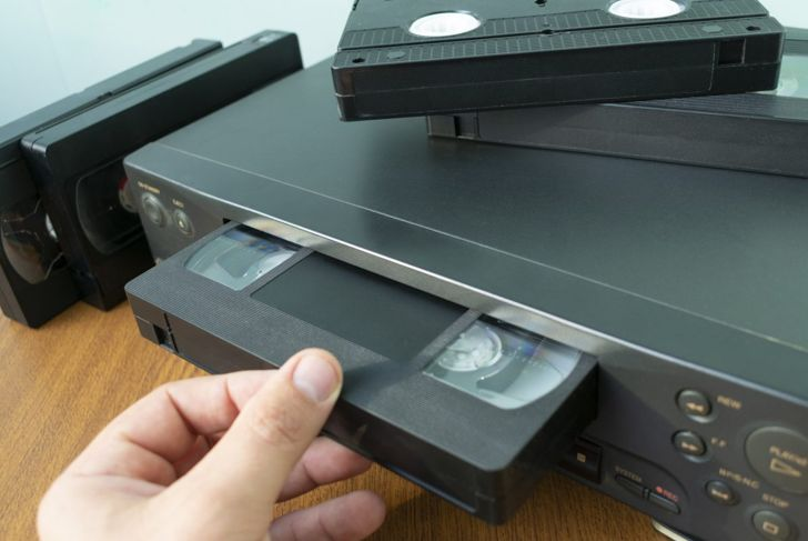 DVDs and VHS tapes can take up a lot of space.