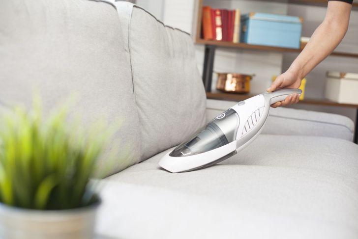 Vacuum furniture, carpet, drapes