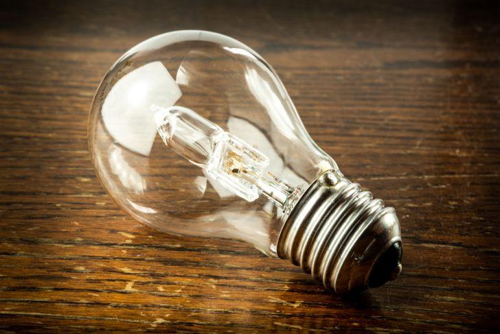 cropped image of a halogen lightbulb