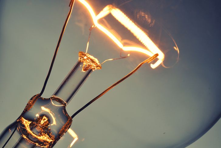 cropped image of the inside of an incandescent lightbulb