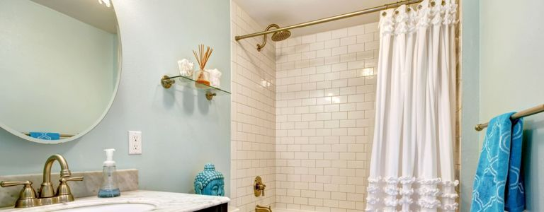 Create Bathroom Glam With This Shower Curtain Inspiration