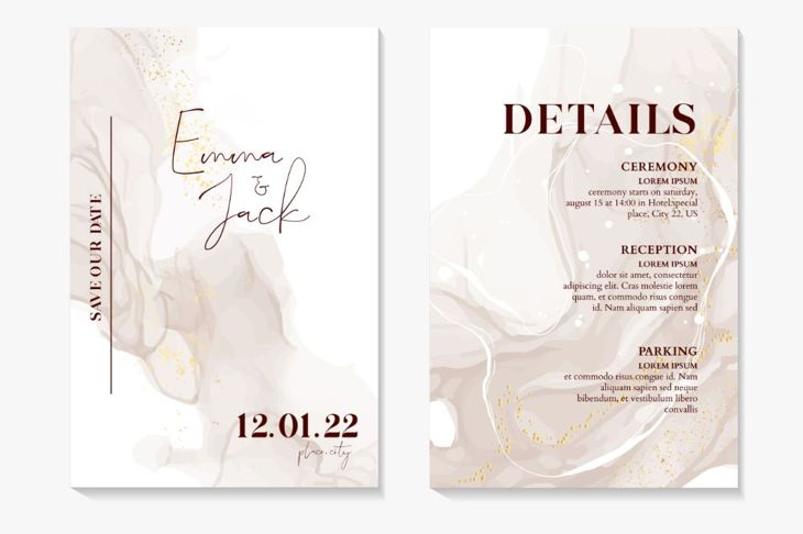wedding invitation details card with ceremony location