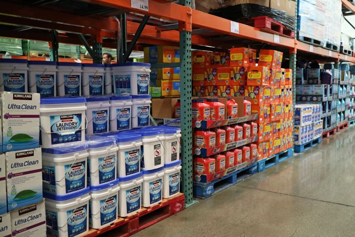flats of kirkland laundry detergent