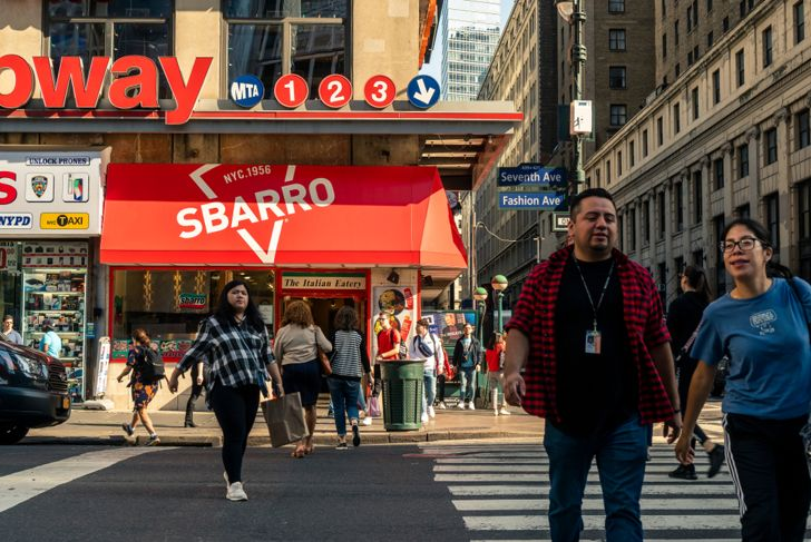 Sbarro restaurant in New York