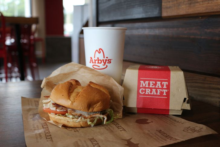 Arbys meal at a fast food restaurant