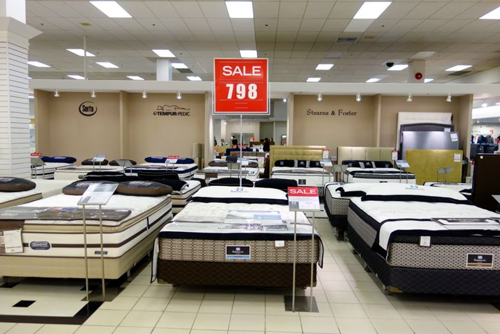mattresses for sale at a store