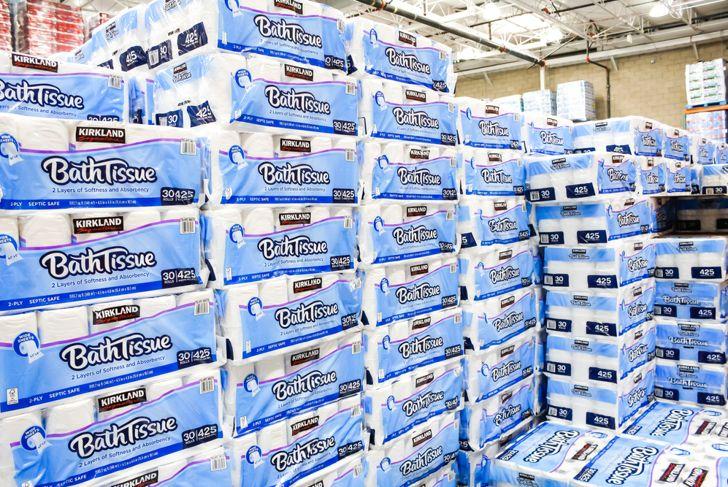 cases of costco toilet paper