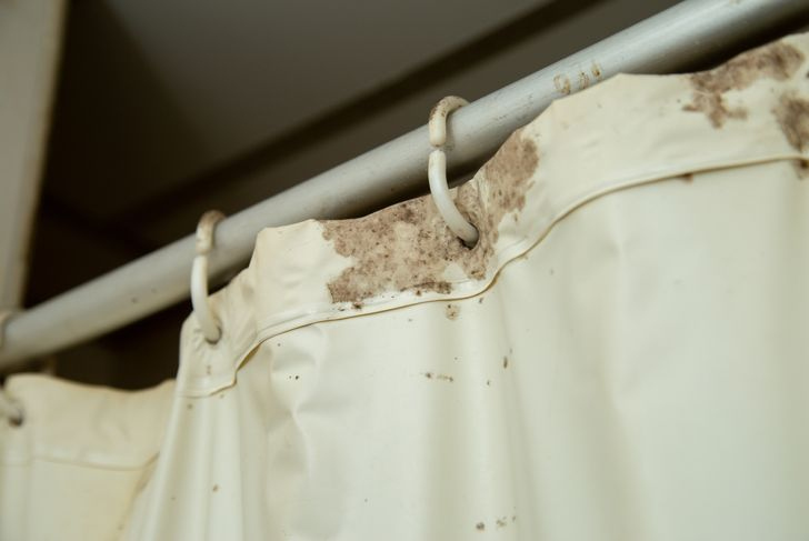 dirty shower curtain
